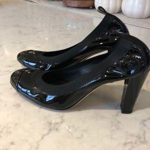 Chanel chunky heel pump.